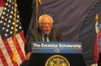 Senator Bernie Sanders showing his support for Governor Cuomo's new initiative