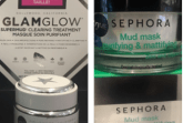 "(left) GLAMGLOW SUPERMUD Clearing Treatment. ""The charcoal in this mask lifts away dirt and the mud formula supports skin's natural oil balance and controls it"" This super mask retails for 70$ at Sephora and online. (right) A perfect dupe for this product at a much fair price, the Sephora Collection Mud Mask Purifying and Matifying Mask which retails for 20$ online and in store."