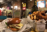 """""""Be my Burger"""" and a side of Rings and Fries  Photo Credit: Harjot Kaur"""