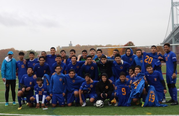 Edison won the division and playoff games with incredible 8 goals by superstar freshman, Alexander Muyudumbay (bottom right)