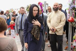 Jacinda Ardern arriving a Christchurch refugee center to meet with the community leaders.  Credit The New York Times