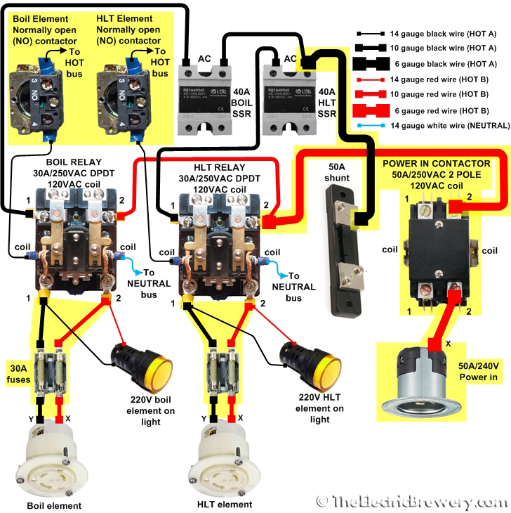 2 Pole Lighting Contactor Wiring Diagram - Lilianduval