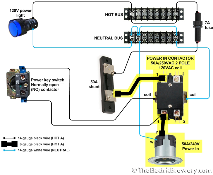 Contactor Relay Wiring Diagram Electronic Schematics collections