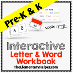 Interactive Letter & Word Workbook for Pre-K & K