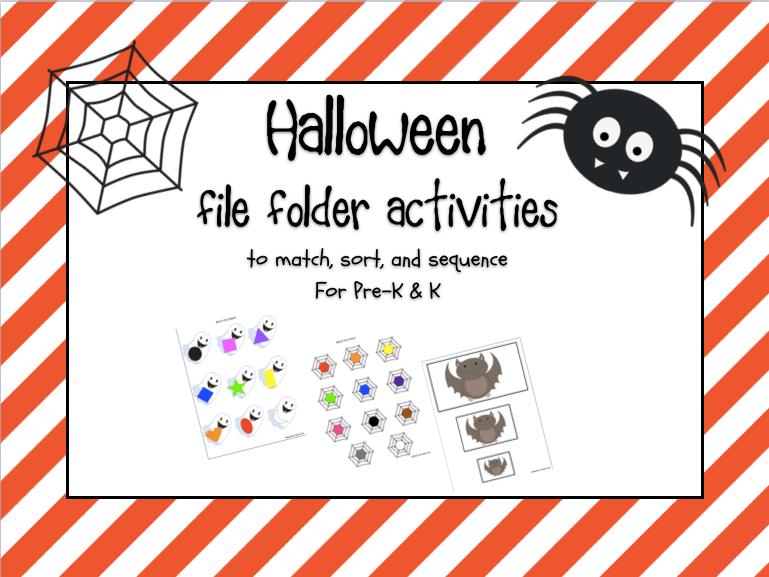 Halloween File Folder Freebies!