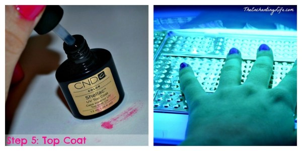 Easy at home 10 Min. DIY Shellac Manicure tutorial on TheEnchantingLife.com