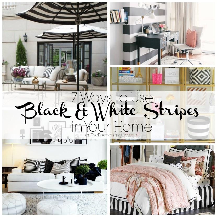 black and white stripes in home decor