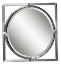 Bathroom Wall Mirrors Brushed Nickel | Home Design Ideas