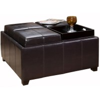 Leather Ottoman Coffee Table With Tray | Home Design Ideas