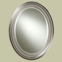 Oval Bathroom Mirrors Brushed Nickel | Home Design Ideas