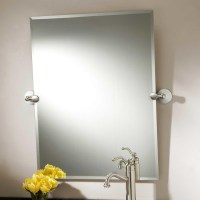 Brushed Nickel Framed Bathroom Mirror | Home Design Ideas