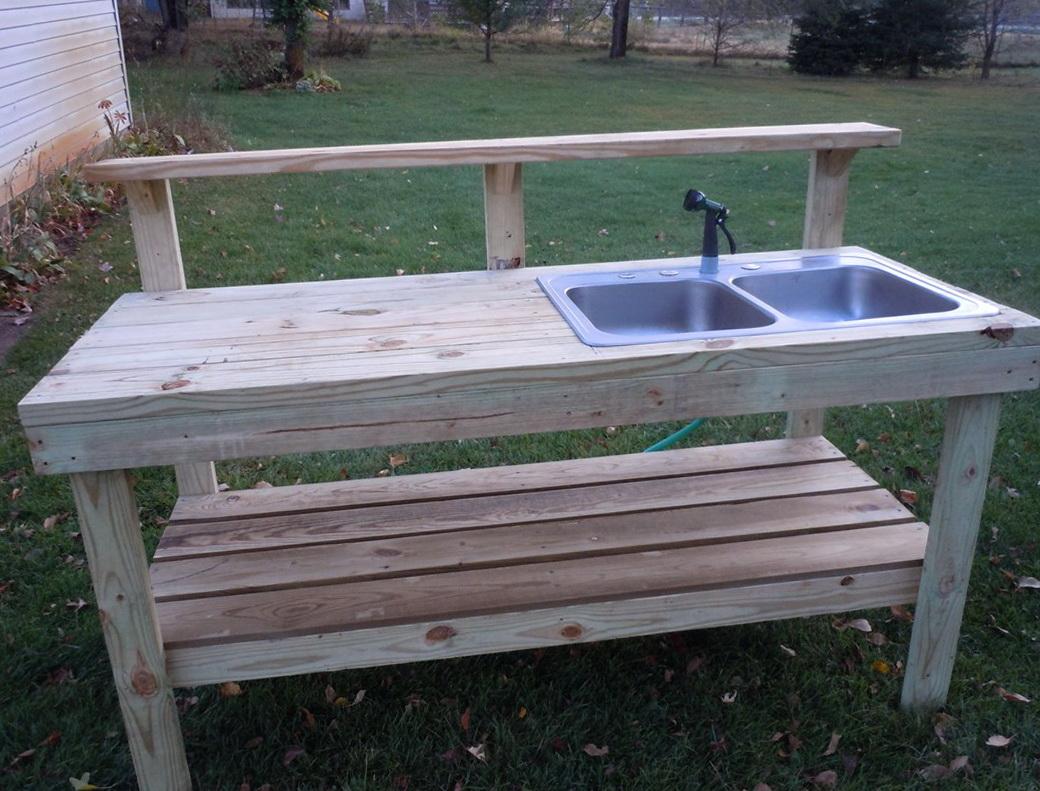 Garden Potting Bench With Sink Home Design Ideas