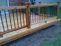 Wood And Metal Deck Railing | Home Design Ideas