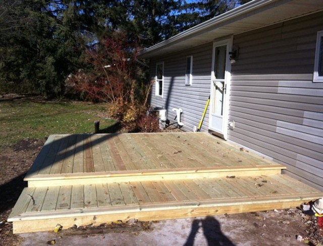 Building A Floating Deck Over Concrete Slab Home Design