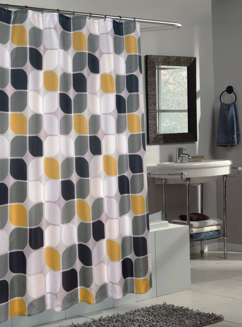 Large Of Yellow Shower Curtain