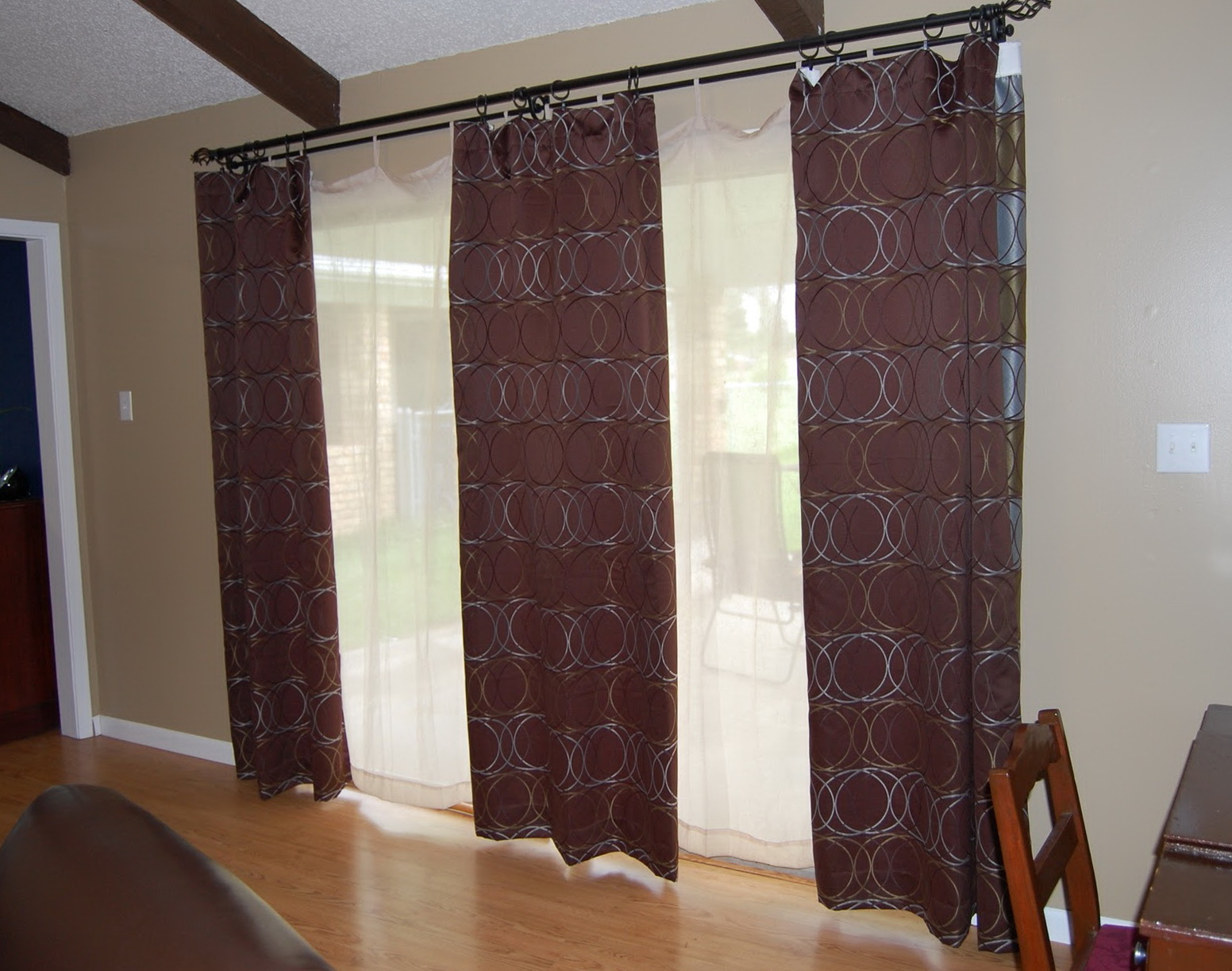 Curtain Ideas For Sliding Glass Doors In Kitchen