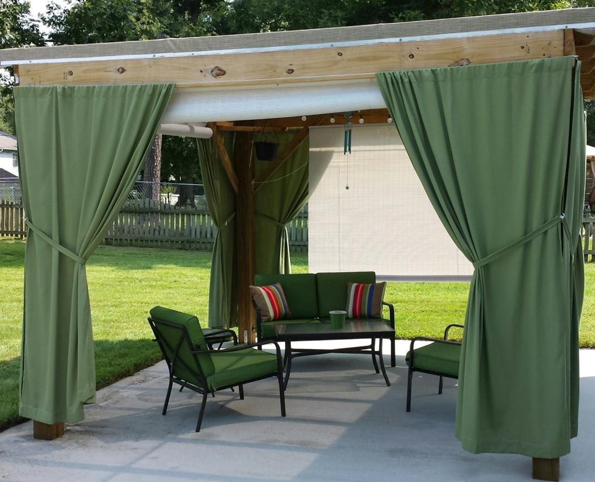 Outdoor Curtain Rods Diy Home Design Ideas