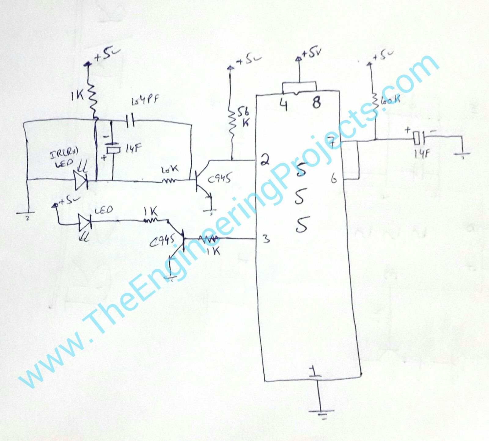ir sensor design circuit diagram of ir sensor