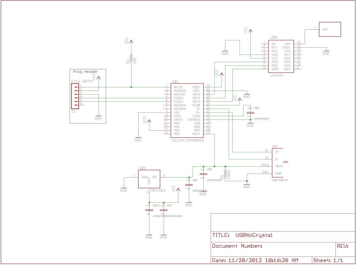 usb wireless receiver schematic