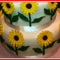 Sunflowers in November...a wedding cake!