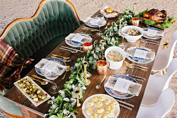 The Everyday Hostess Thanksgiving Table from the Iman Project 6