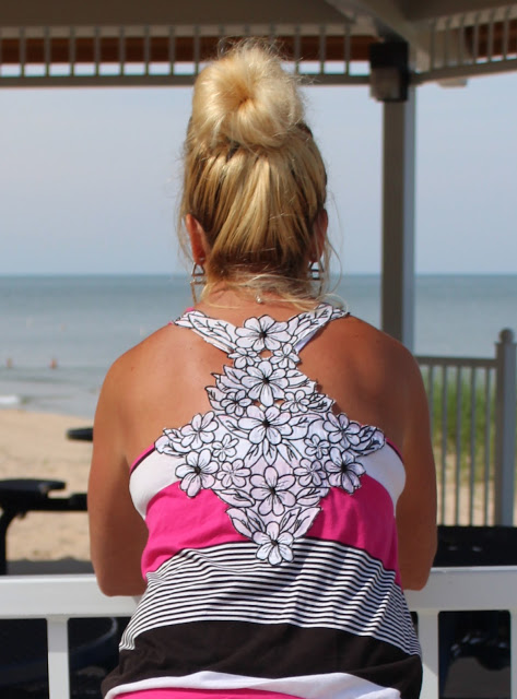 Cut Out Floral Back