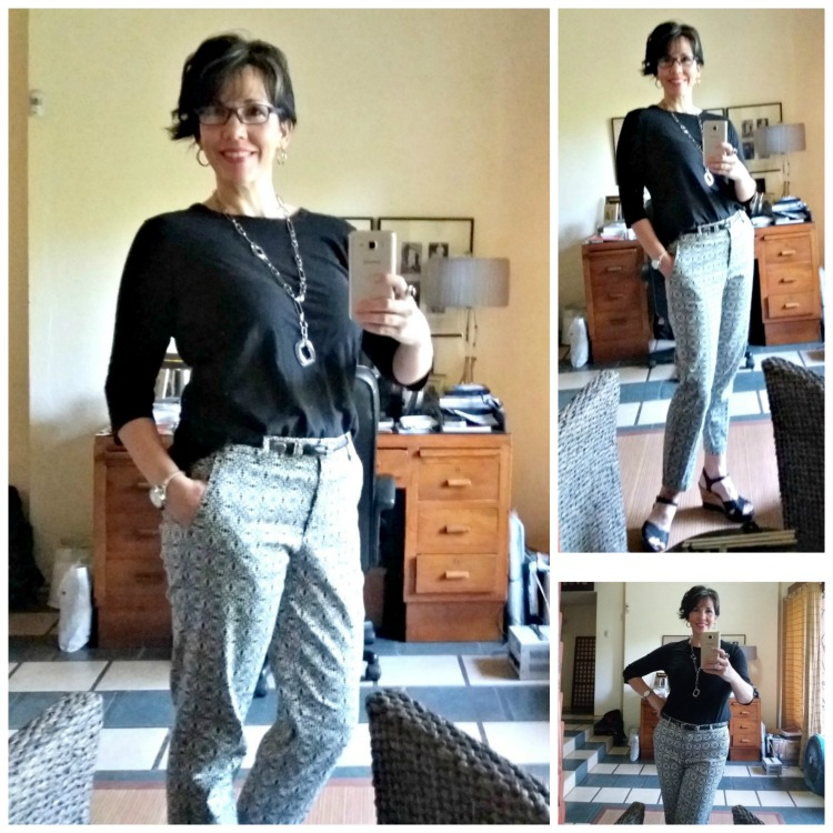 Patterned Pants - What I Really Wore, Fashion Over 40