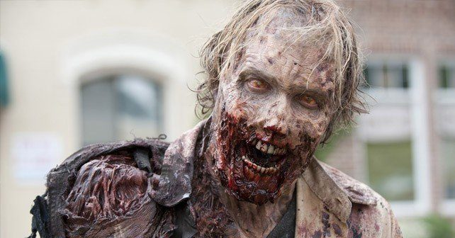 Zombies Have Milky Eyes Because They Do Not Blink