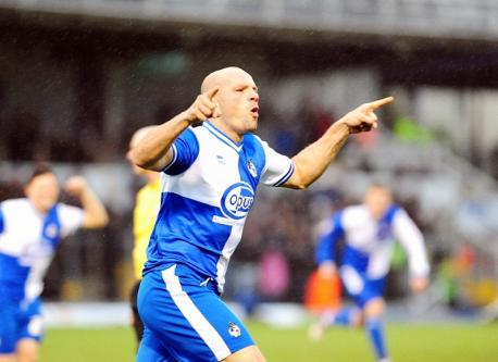 Howzat! Branston celebrates scoring for Bristol Rovers