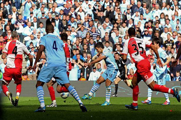 Manchester+City+v+QPR-+Sergio+Aguero+