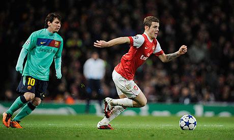 Jack Wilshere Arsenal v Barcelona