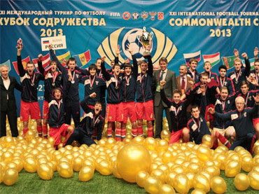 Stepping stones: Russia's victorious 2012 Commonwealth Cup team