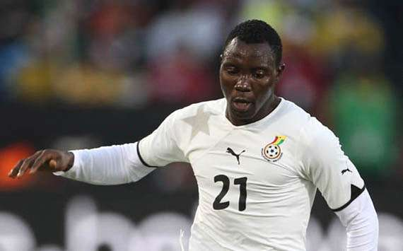 Ghanaian midfielder Kwadwo Asamoah in action