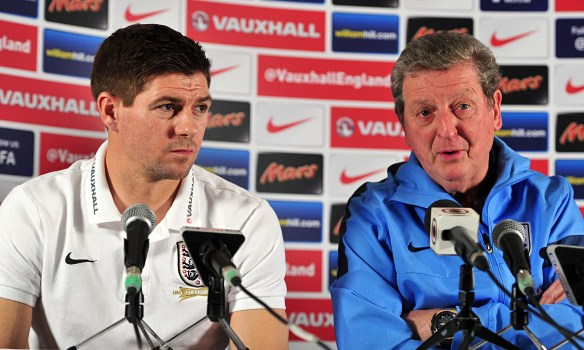 Steven Gerrard, left, believes Roy Hodgson's hiring of Dr Steve Peters will be invaluable to England