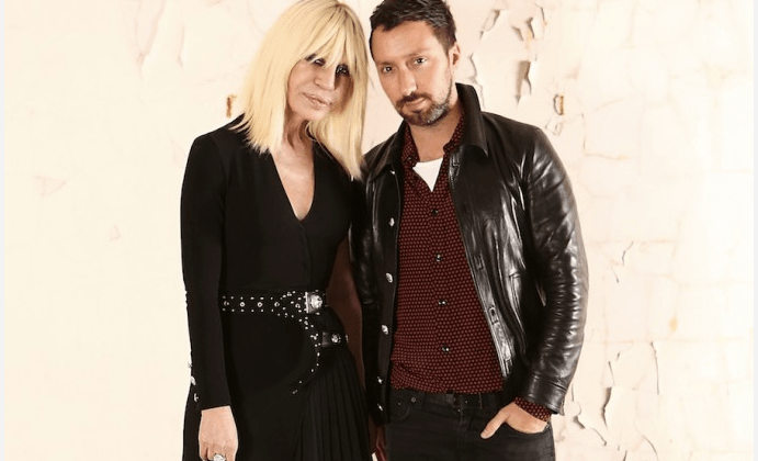 Anthony Vacarello and Donatella Versace