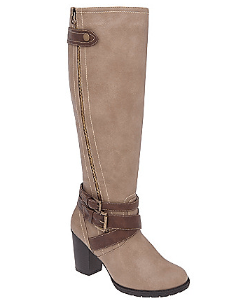 Lane Bryant Zip &amp; Buckle Boot