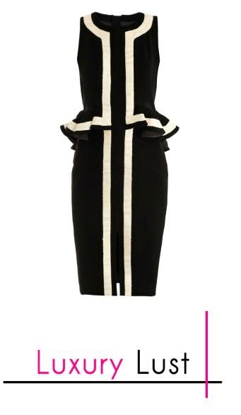 Altazurra's Black Eland Peplum Dress