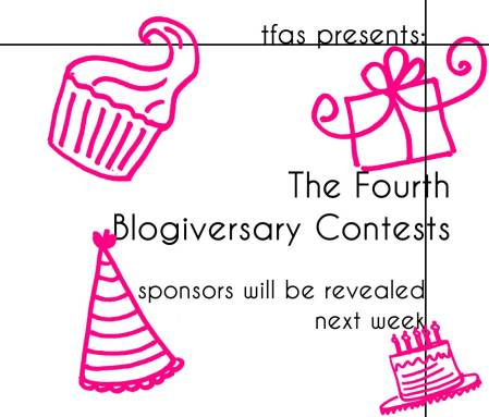 the fourth blogiversary contests
