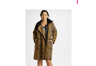 fuzzi leopard plus size coat at salon z