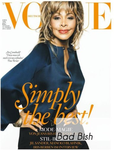 Tina Turner Covers Vogue Germany