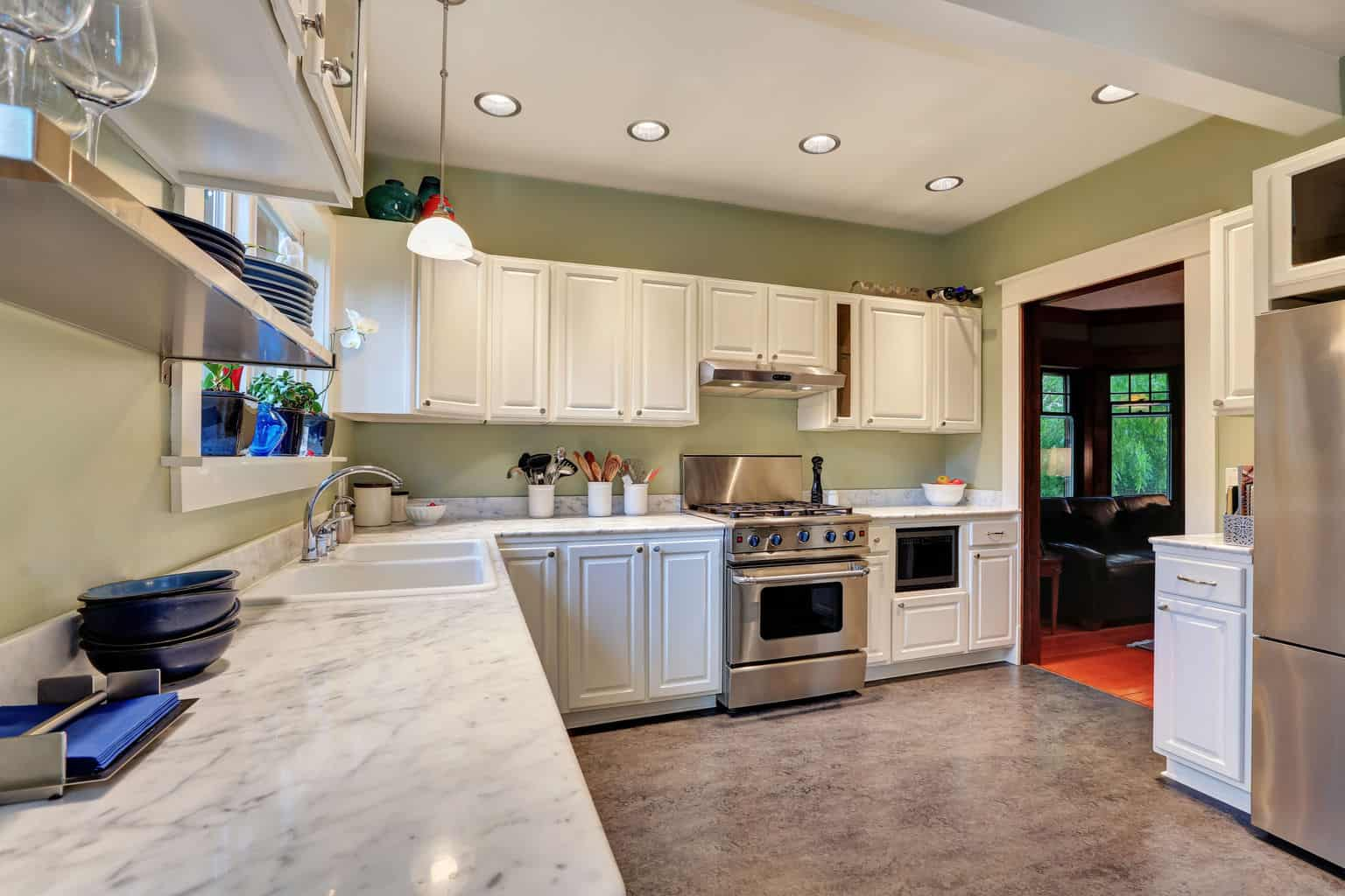 kitchen linoleum flooring linoleum kitchen flooring Perhaps the greatest selling point for linoleum is its durability it is water resistant stands up to the wear and tear of heavy traffic better than almost