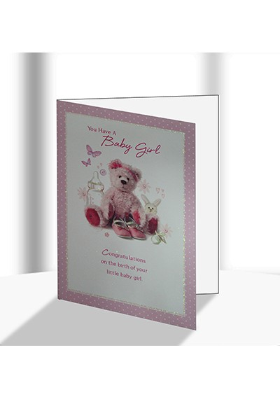 Buy Best Wishes on Your Baby Girl Greeting Card in Dubai UAE - baby girl congratulations card