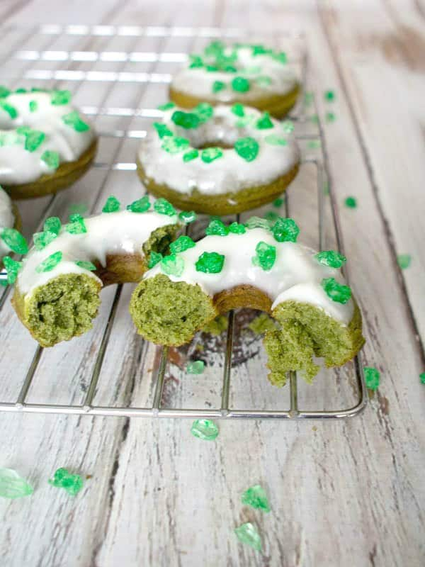St. Patrick's Day Desserts. Green Donuts.