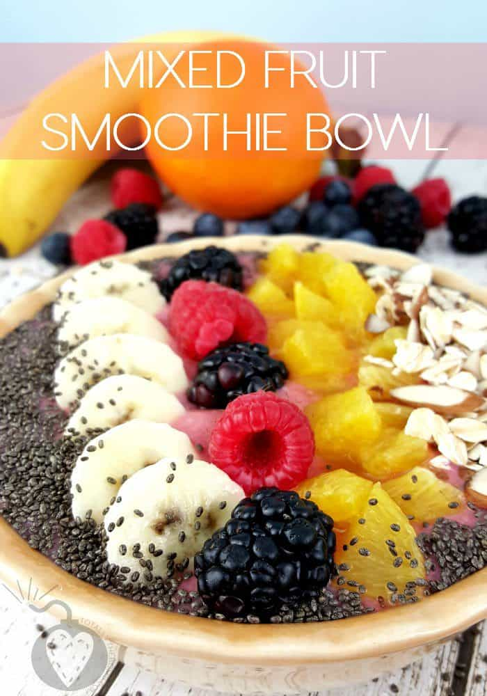 21 Healthy Breakfast Recipes. Mixed-Fruit-Smoothie-Bowl.