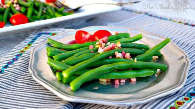 Fresh Green Beans with Prosciutto - The Foodie Affair