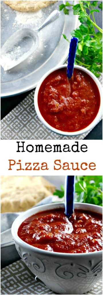 This easy homemade Pizza Sauce Recipe is easy to make and can be used ...