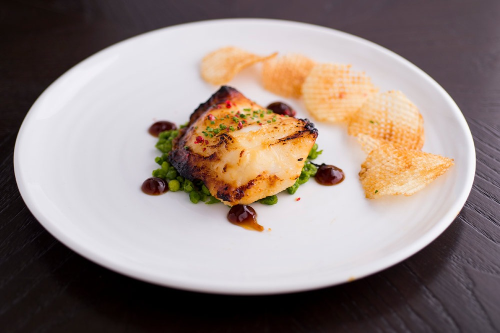 the disgruntled brasserie baked miso cod