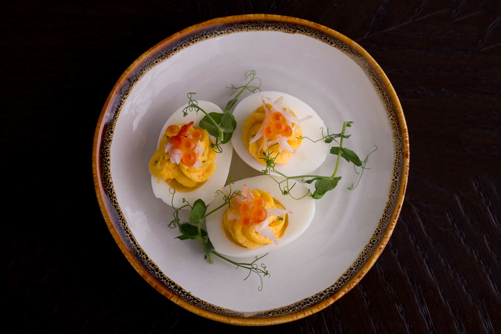 the disgruntled brasseries deviled eggs
