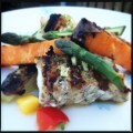Grilled Monkfish with sweet potatoes