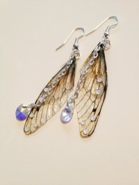 Pretty Faerie Wing Earrings by Under the Ivy